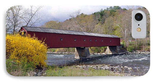 West Cornwall Ct Covered Bridge IPhone Case