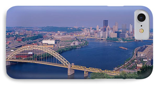 West End Bridge At The Three Rivers IPhone Case by Panoramic Images