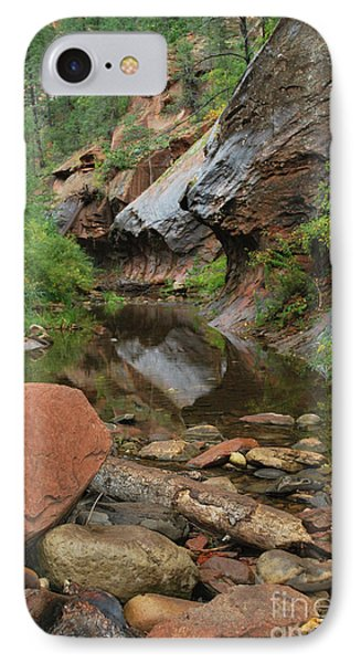West Fork Trail River And Rock Vertical IPhone Case