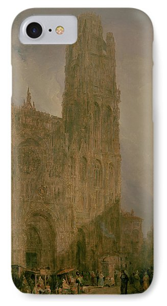 West Front Of Notre Dame IPhone Case by David Roberts
