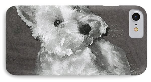 IPhone Case featuring the digital art West Highland White Terrier by Charmaine Zoe
