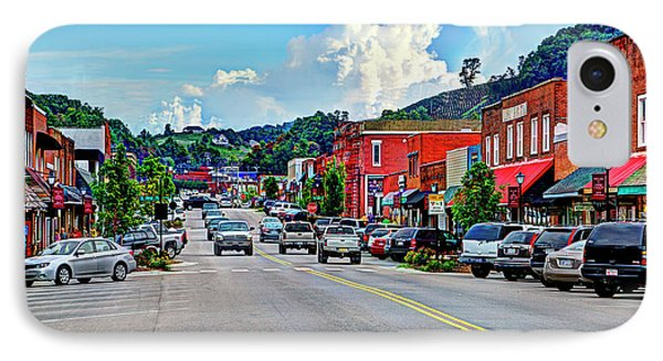 West Jefferson Streetscape IPhone Case by Dale R Carlson