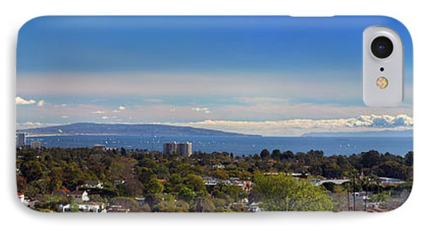 West La And Catalina Island From Pacific Palisades IPhone Case by Wernher Krutein