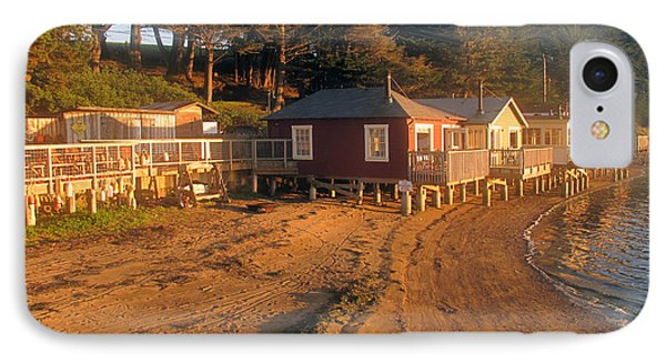 IPhone Case featuring the photograph West Marin Nick's Cove Cottages by Dianne Levy