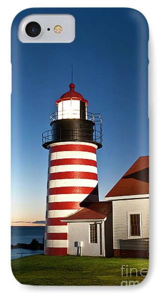 West Quoddy Head Lighthouse Maine Phone Case by John Greim