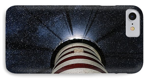 West Quoddy Head Lighthouse Night Light Phone Case by Marty Saccone