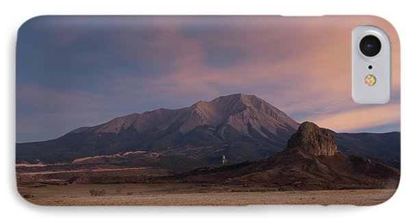 IPhone 7 Case featuring the photograph West Spanish Peak Sunset by Aaron Spong
