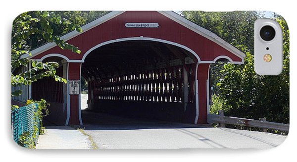 West Swanzey Covered Bridge IPhone Case by Catherine Gagne