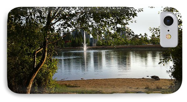 West View Of Lafarge Lake IPhone Case by Rod Jellison