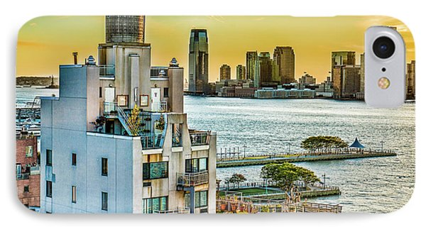 IPhone Case featuring the photograph West Village To Jersey City Sunset by Chris Lord