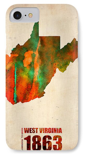 West Virginia Watercolor Map IPhone Case
