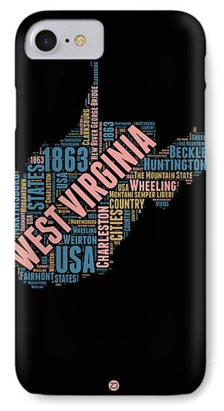 West Virginia Word Cloud Map 1 IPhone Case