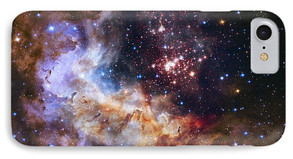Westerlund 2 - Hubble 25th Anniversary Image IPhone Case by Adam Romanowicz
