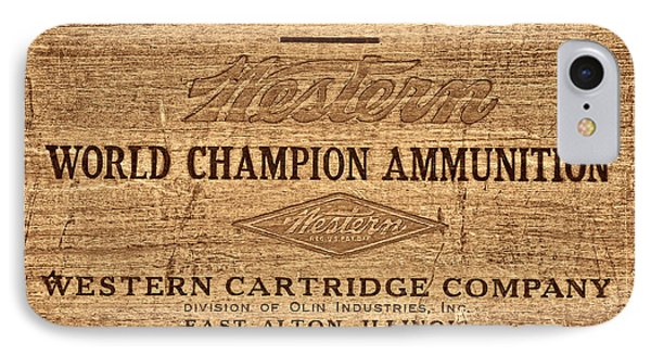 Western Ammunition Box IPhone Case by American West Legend By Olivier Le Queinec