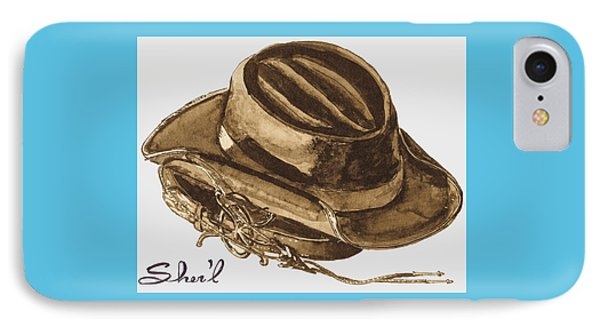 IPhone Case featuring the painting Western Apparel by Sher'l