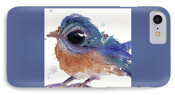 IPhone Case featuring the painting Western Bluebird by Dawn Derman