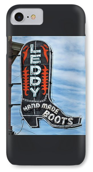 IPhone Case featuring the photograph Western Boot Sign by David and Carol Kelly