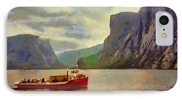 IPhone Case featuring the painting Western Brook Pond by Jeff Kolker