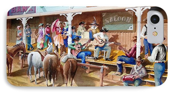 Western Jam Session Phone Case by Charles Hetenyi