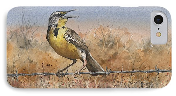 Meadowlark iPhone 7 Case - Western Meadowlark by Sam Sidders