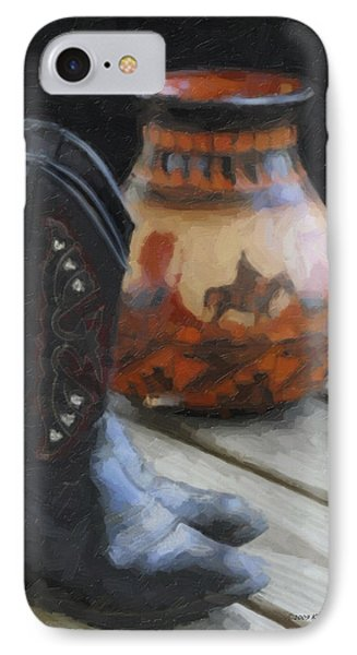 Western Still Life IPhone Case by Kenny Francis
