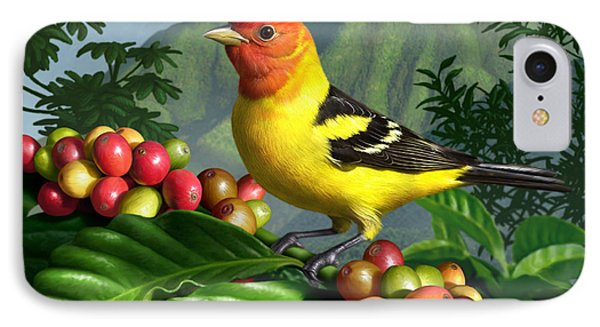 Western Tanager IPhone Case by Jerry LoFaro