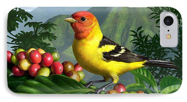 Western Tanager Phone Case by Jerry LoFaro