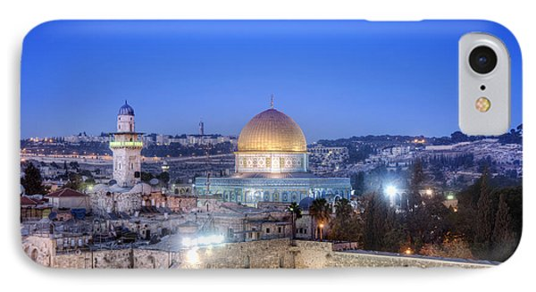 Western Wall And Dome Of The Rock Phone Case by Noam Armonn