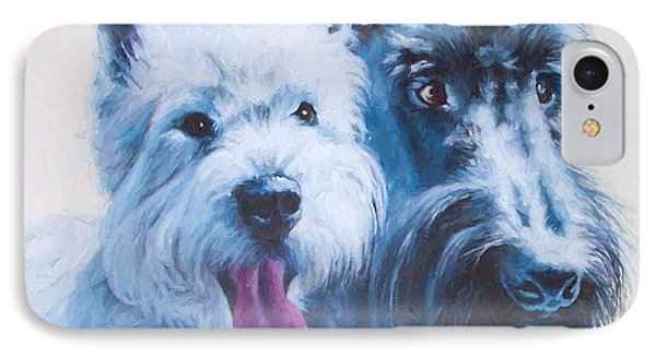 Westie And Scotty Dogs IPhone Case