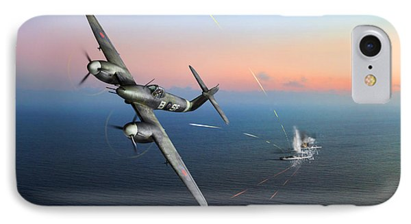 IPhone 7 Case featuring the photograph Westland Whirlwind Attacking E-boats by Gary Eason