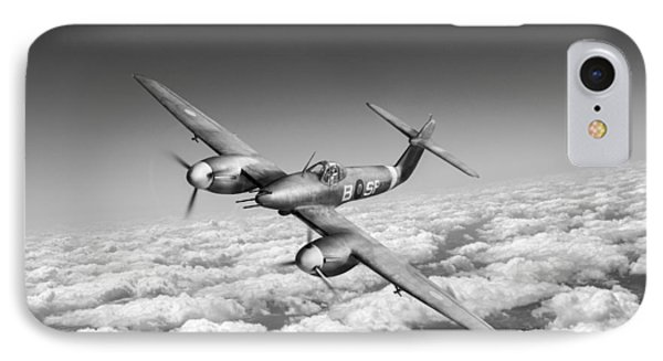 IPhone 7 Case featuring the photograph Westland Whirlwind Portrait Black And White Version by Gary Eason