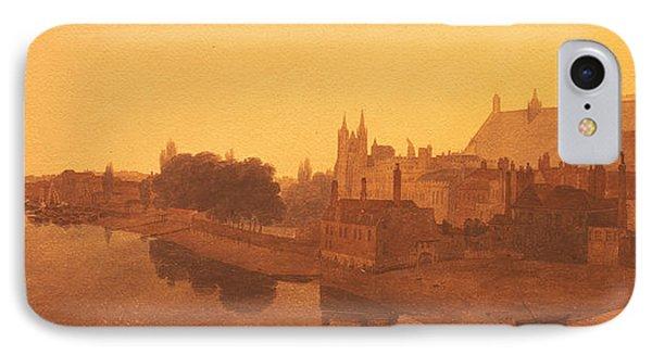 Westminster Abbey  IPhone Case by Peter de Wint