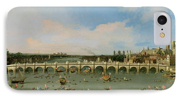Westminster Bridge - London IPhone Case by Giovanni Antonio Canaletto