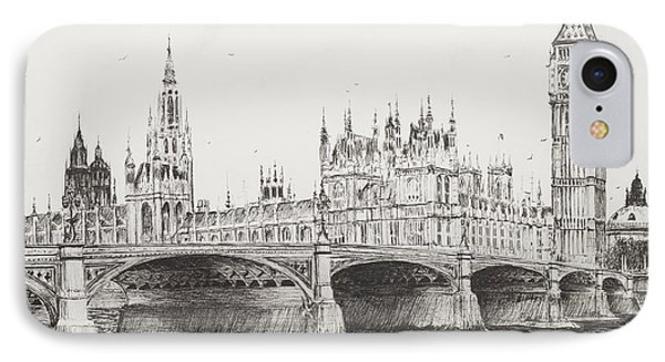 Westminster Bridge IPhone Case by Vincent Alexander Booth