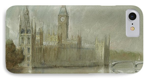 Westminster Palace And Big Ben London IPhone 7 Case by Juan Bosco