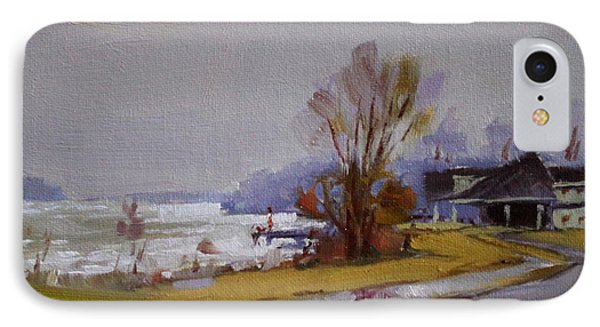 Wet And Icy At Gratwick Waterfront Park IPhone Case by Ylli Haruni