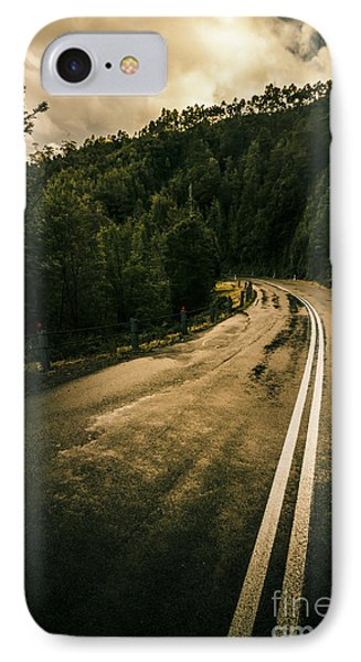 Wet Highland Road IPhone Case by Jorgo Photography - Wall Art Gallery