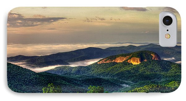 IPhone Case featuring the photograph Looking Glass Rock Sunrise Between The Clouds Blue Ridge Parkway by Reid Callaway