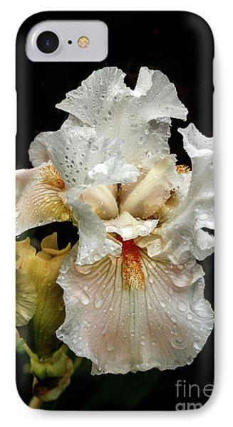 Wet White Iris IPhone Case by Robert Bales