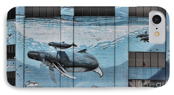 Whale Deco Building  IPhone Case by Chuck Kuhn