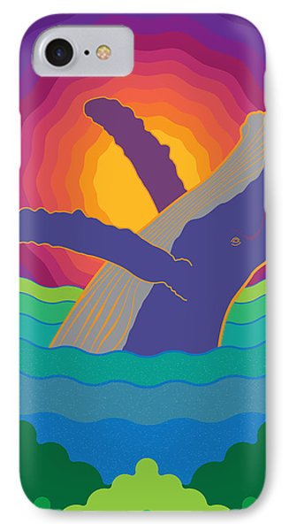 Whale On Sunset Costa Rica IPhone Case by Jose Baquero