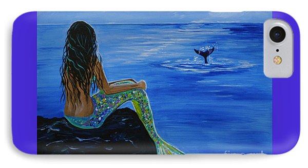 Whale Watcher IPhone 7 Case by Leslie Allen