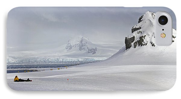 whalers bay Deception Island, Antarctica. IPhone Case by Lilach Weiss