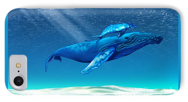Whales Phone Case by Corey Ford
