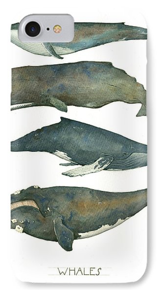 Whales Poster IPhone Case