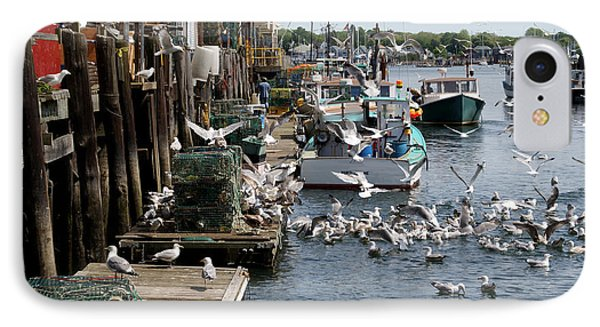IPhone Case featuring the photograph Wharf Action by Lynda Lehmann