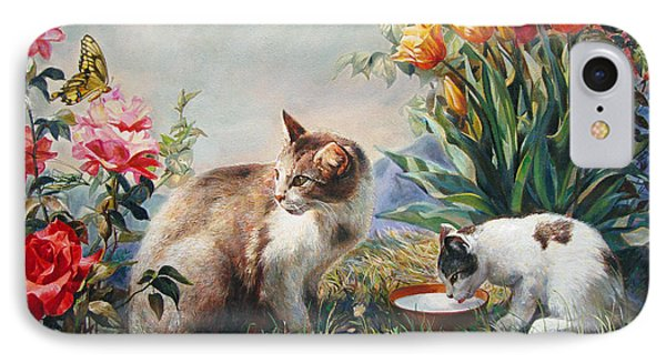 IPhone Case featuring the painting What A Girl Kitten Wants by Svitozar Nenyuk