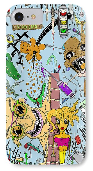 What A Mess Color Phone Case by Jack Norton