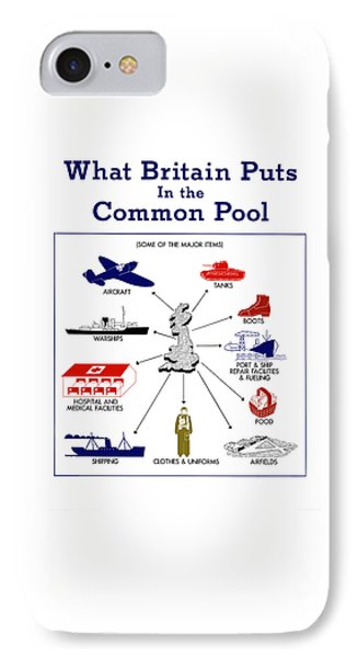 What Britain Puts In The Common Pool IPhone Case by War Is Hell Store