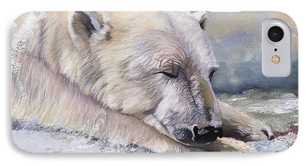 What Do Polar Bears Dream Of IPhone Case by J W Baker